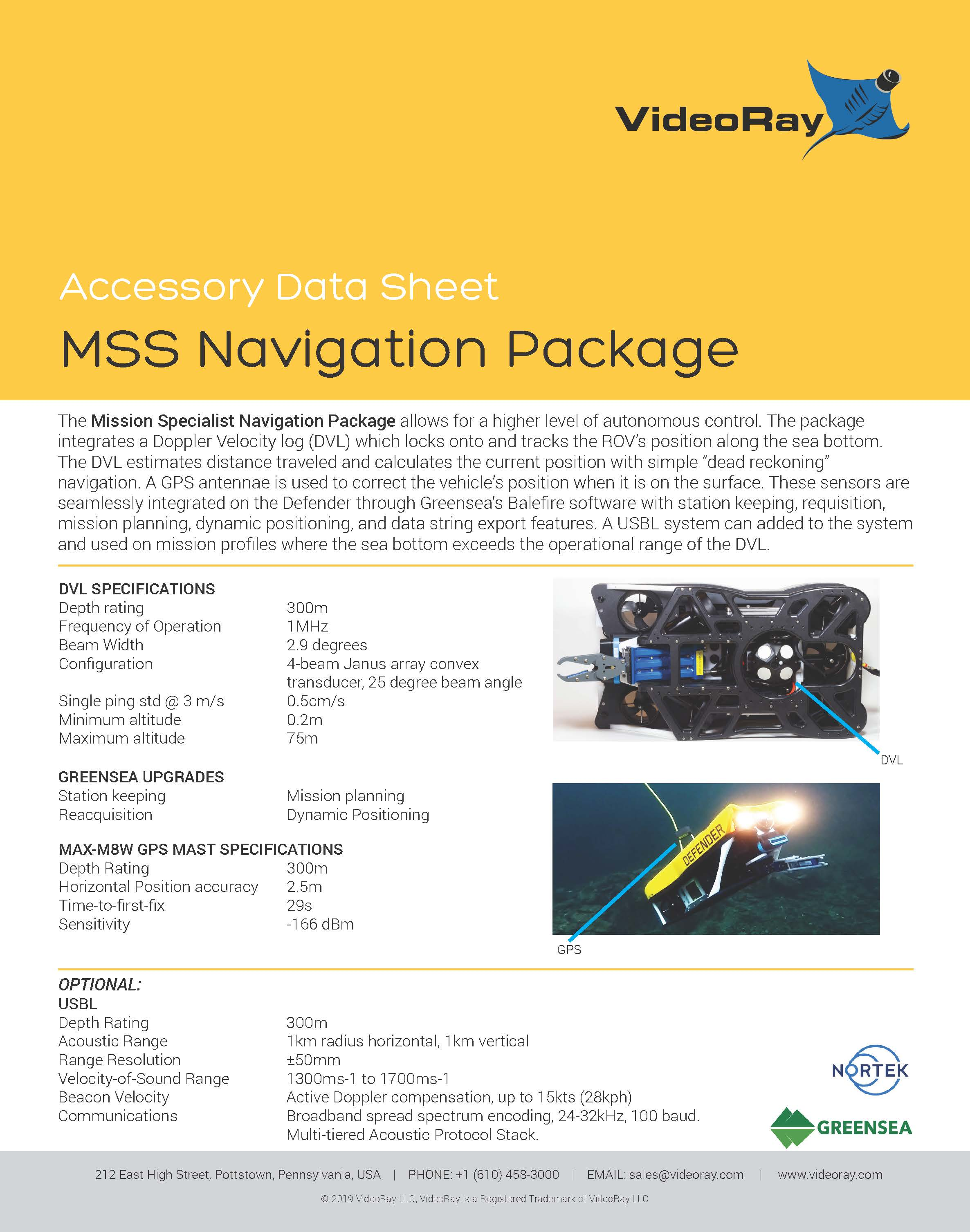2019 MSS NAVIGATION PACKAGE