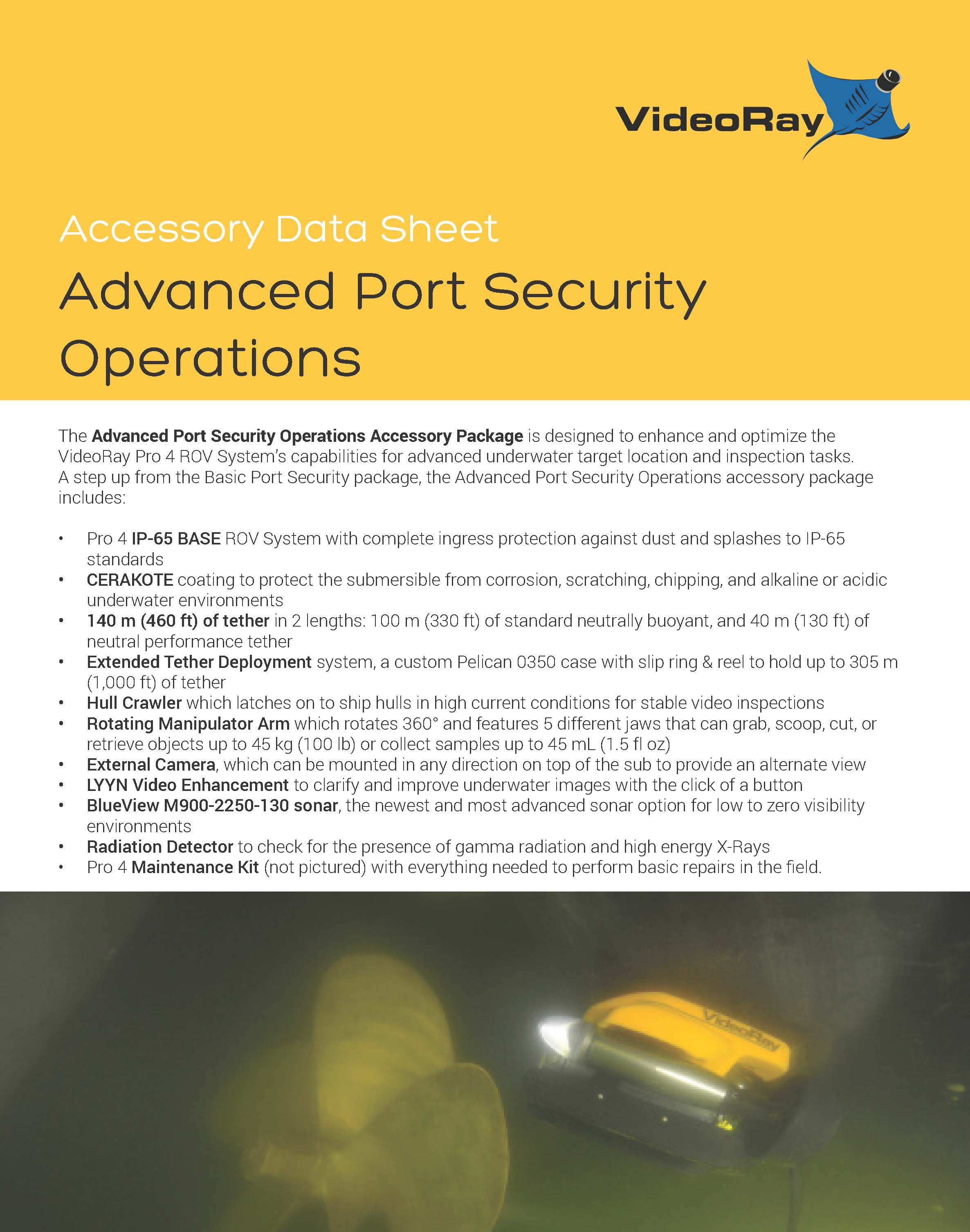 2019 ADVANCED PORT SECURITY PACKAGE Page 1