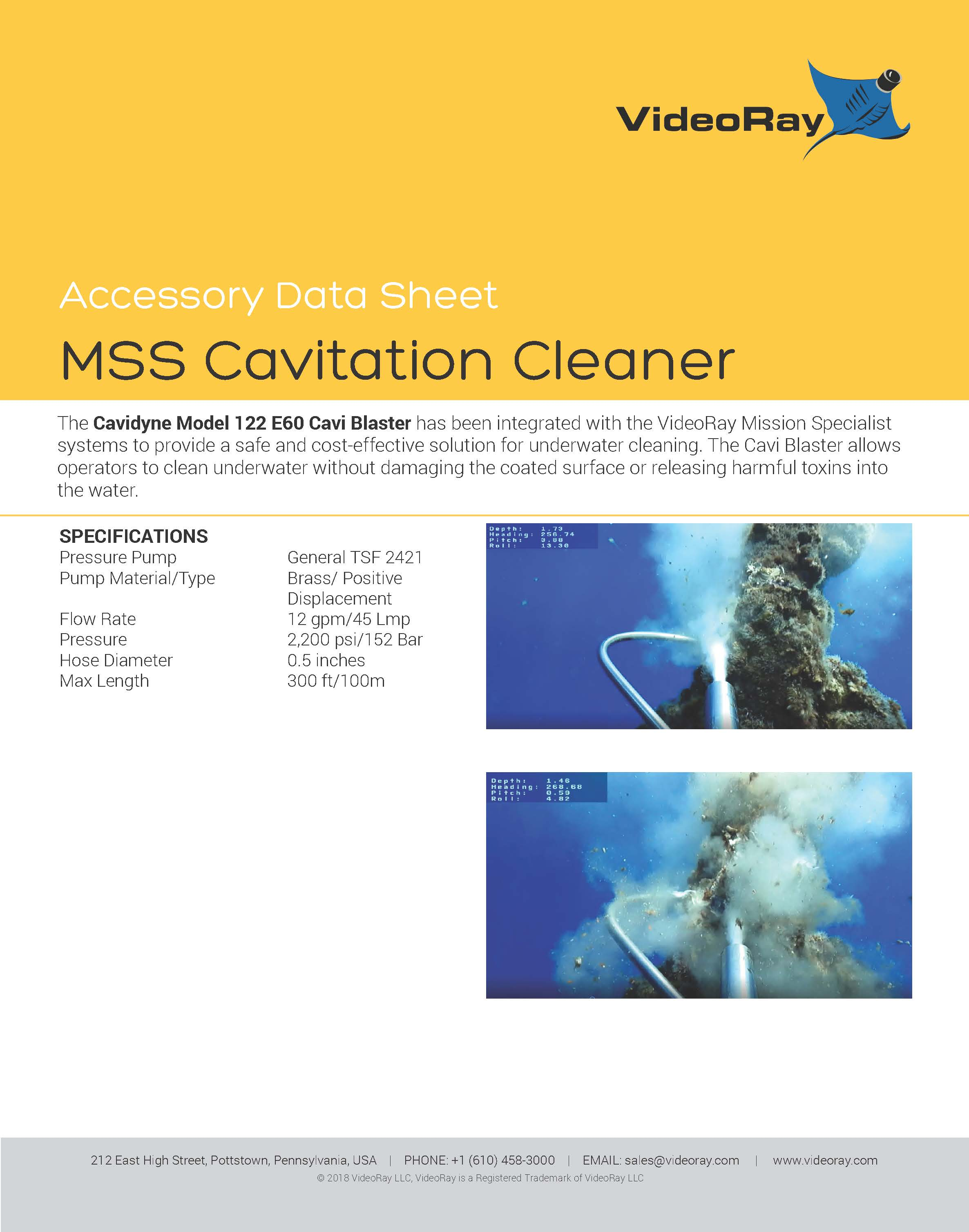 2019 MSS CAVITATIONCLEANER